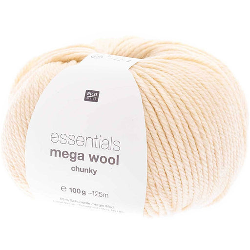 Rico Mega Wool - Ivory 020 - The Village Haberdashery