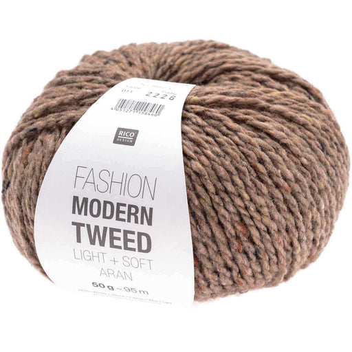 Rico Fashion Modern Tweed Light + Soft Aran - Powder - 011 - The Village Haberdashery