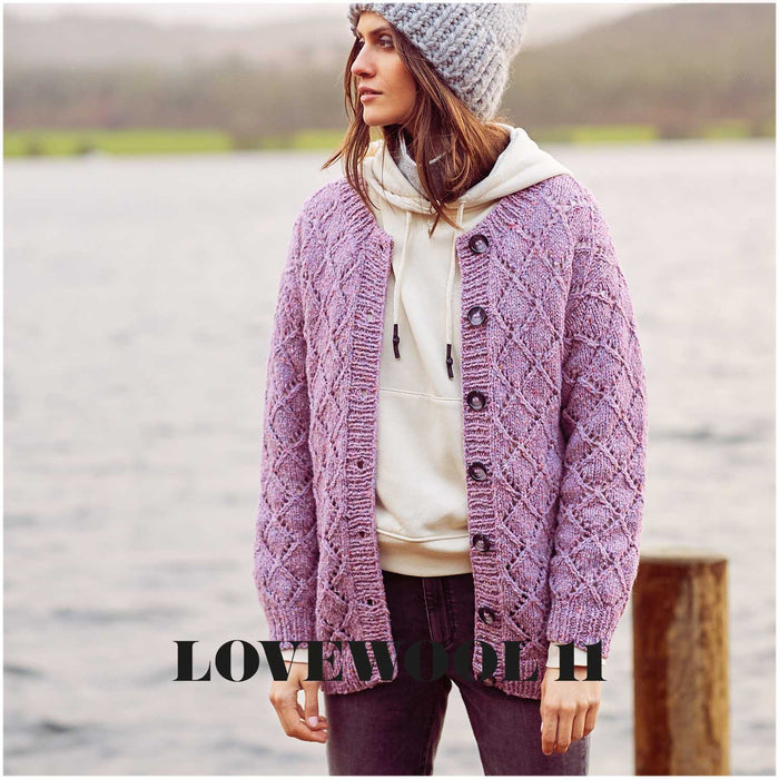 Rico Fashion Modern Tweed Light + Soft Aran - Lilac - 012 - The Village Haberdashery
