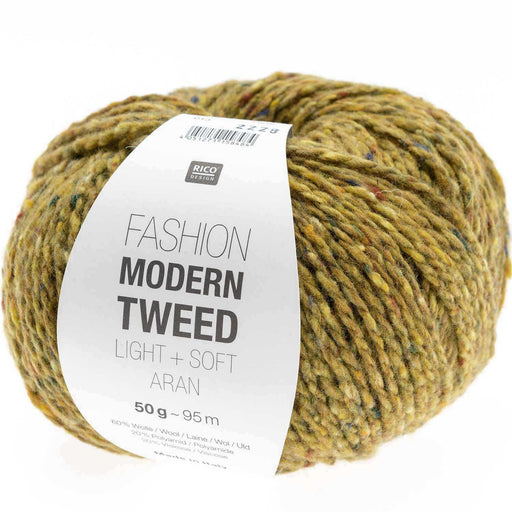 Rico Fashion Modern Tweed Light + Soft Aran - Yellow - 013 - The Village Haberdashery