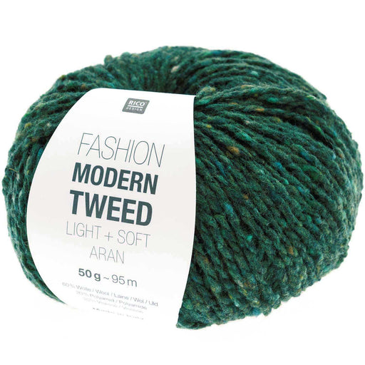 Rico Fashion Modern Tweed Light + Soft Aran - Green - 014 - The Village Haberdashery