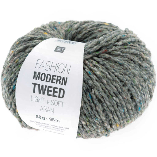 Rico Fashion Modern Tweed Light + Soft Aran - Light Grey - 014 - The Village Haberdashery