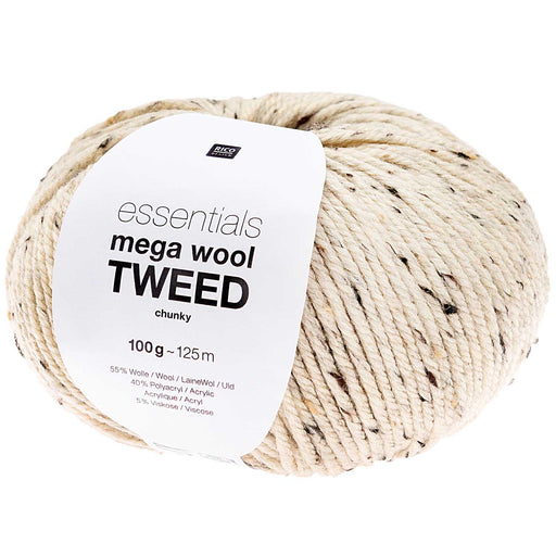 Rico Mega Wool Tweed - Butter - The Village Haberdashery