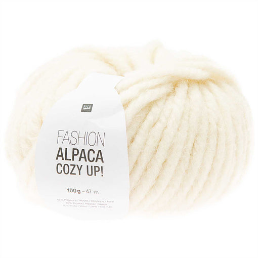 Rico Fashion Alpaca Cozy Up - Ivory - 001 - The Village Haberdashery