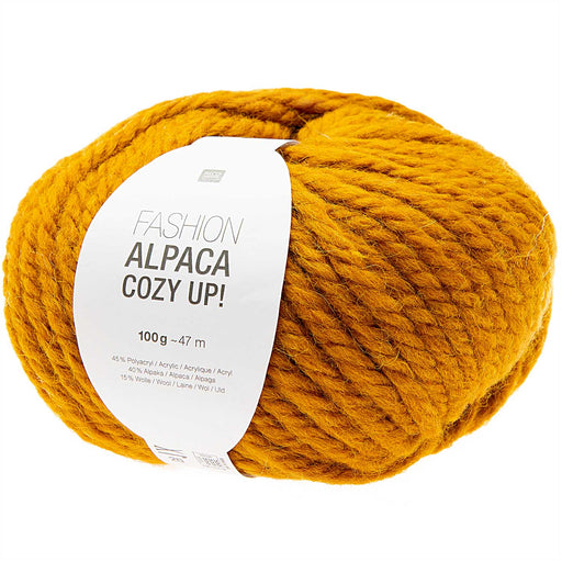 Rico Fashion Alpaca Cozy Up - Mustard - 004 - The Village Haberdashery