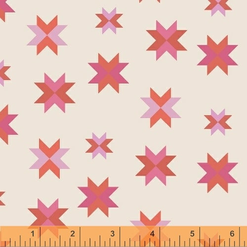 Coral Pink Patchwork Cotton from Daisy Chain by Annabel Wrigley - The Village Haberdashery