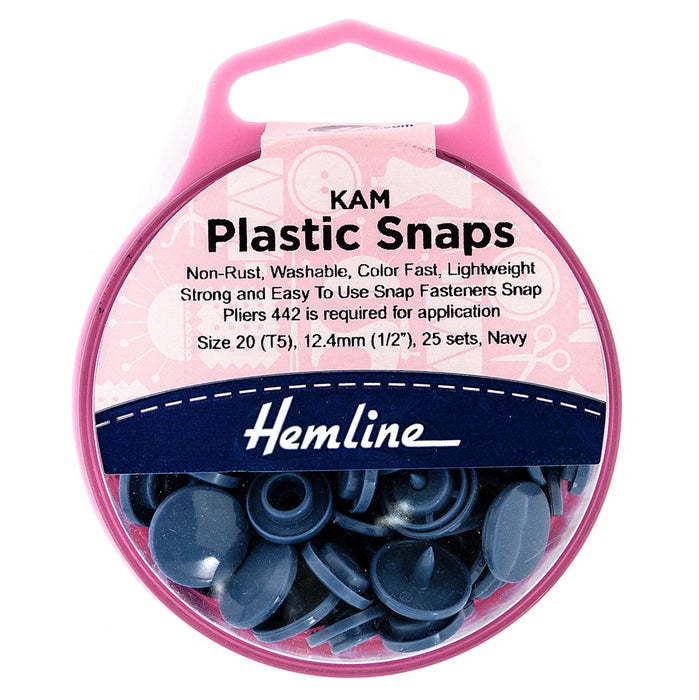 KAM Plastic Snaps - Navy - The Village Haberdashery
