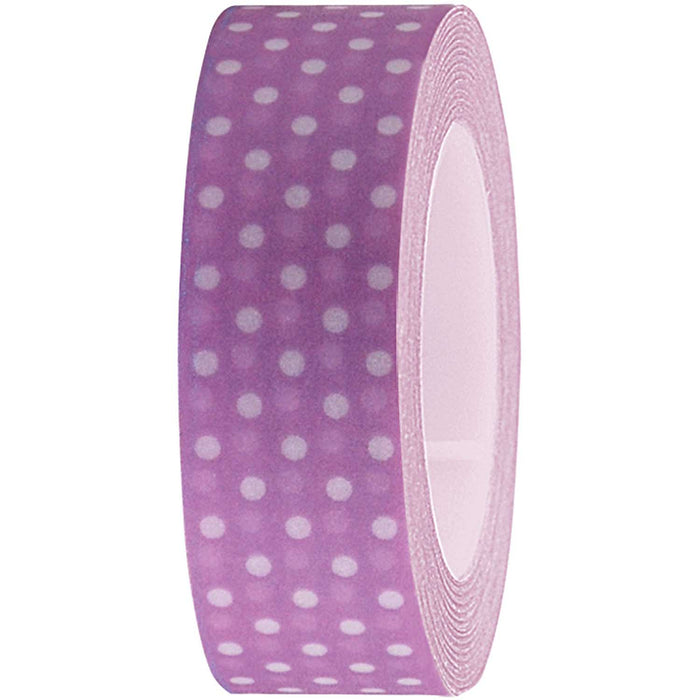 Washi Tape - Lilac and White Dots - The Village Haberdashery