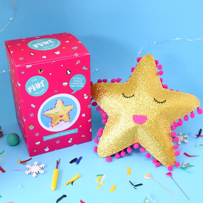 The Make Arcade Christmas Felt Sewing Kit - Star Tree Topper - The Village Haberdashery
