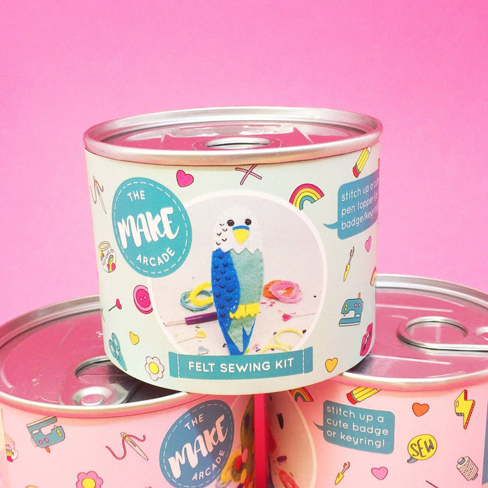 The Make Arcade Felt Sewing Kit - Billy Budgie - The Village Haberdashery