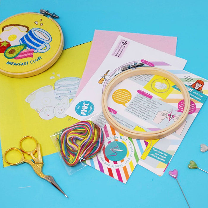 The Make Arcade Mini Embroidery Kit - Breakfast Club! - The Village Haberdashery