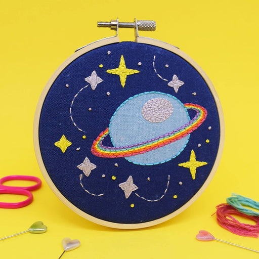 The Make Arcade Mini Embroidery Kit - Galaxy - The Village Haberdashery