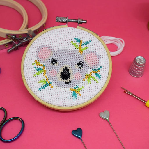 The Make Arcade Mini Cross Stitch Kit - Koala - The Village Haberdashery