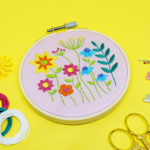 Spring Meadow Embroidery Kit by The Make Arcade - The Village Haberdashery