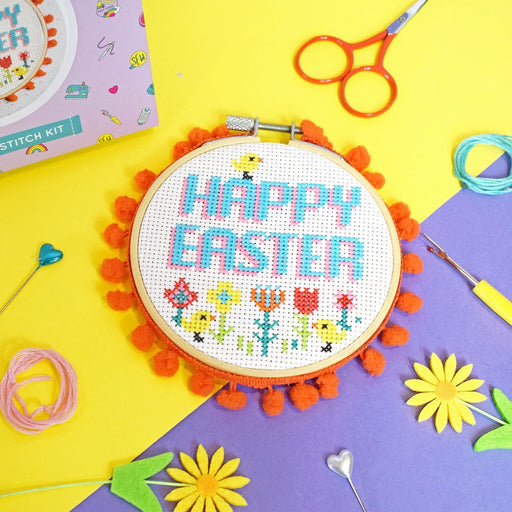 Happy Easter Cross Stitch Kit by The Make Arcade - The Village Haberdashery