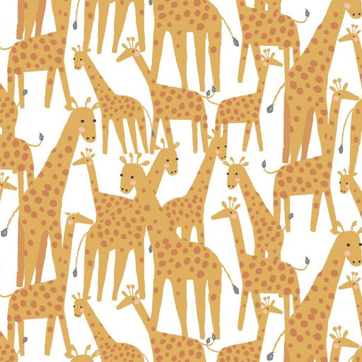 White Giraffe Cotton from Born to be Wild - The Village Haberdashery