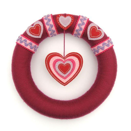 Felt Heart Wreath - The Village Haberdashery