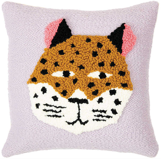 Punch Needle Leopard Cushion Kit - The Village Haberdashery