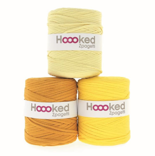 Hoooked Zpagetti T-Shirt Yarn - 120m Bobbins - Yellow Shades - The Village Haberdashery