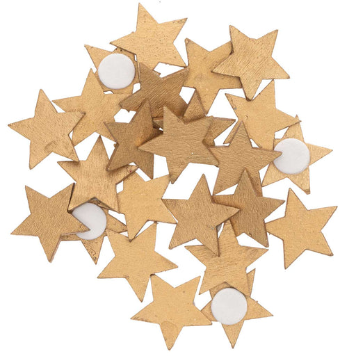 Gold Wood Star Stickers - The Village Haberdashery
