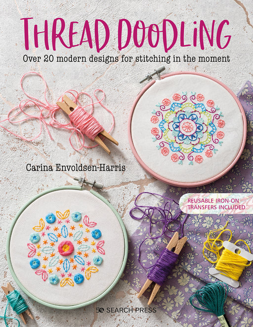 Thread Doodling by Carina Envoldsen-Harris from Polka & Bloom - The Village Haberdashery