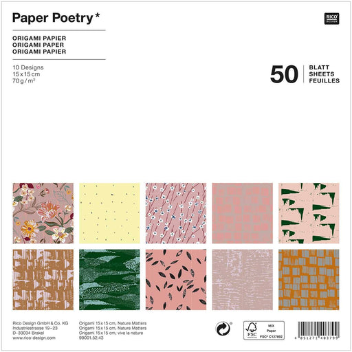 Origami Paper - Nature Matters - The Village Haberdashery