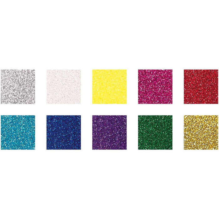 Glitter Paper Pad - Magical Mix - The Village Haberdashery