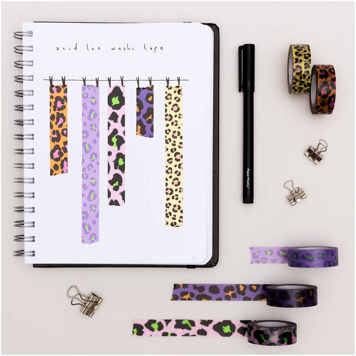 Acid Leo Washi Tape Set - The Village Haberdashery