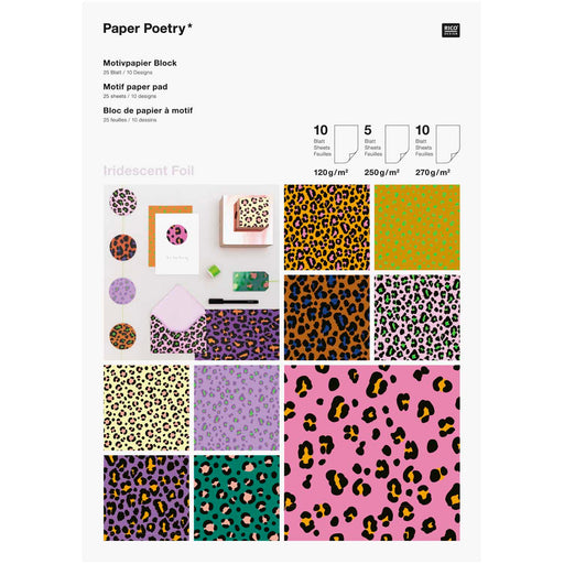 Acid Leo Paper Pad - 25 Sheets A4 - The Village Haberdashery