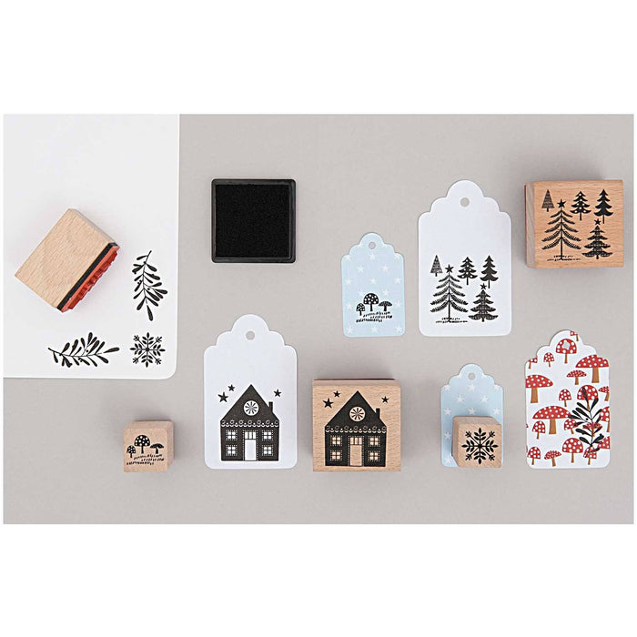 Stamp and Ink Set - Winter Forest - The Village Haberdashery