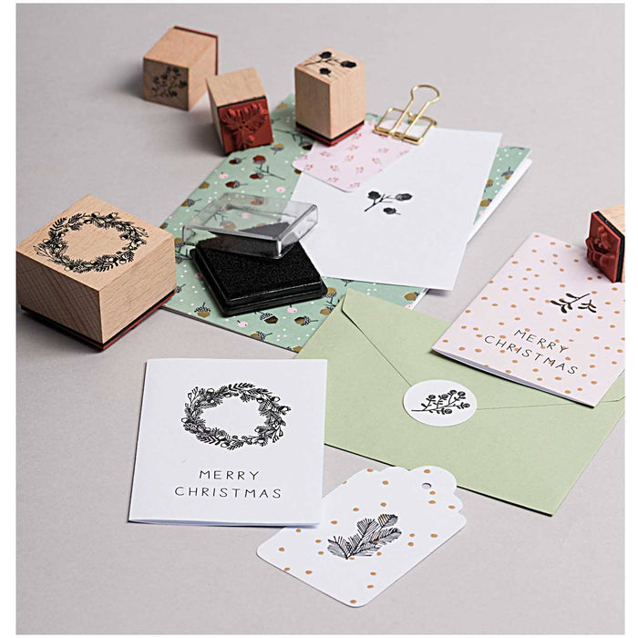 Stamp and Ink Set - Classic Christmas - The Village Haberdashery