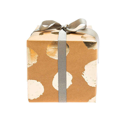 Gift Wrap - Kraft Gold Dots - The Village Haberdashery