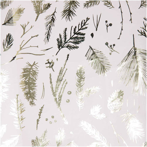 Gift Wrap - Nostalgic Christmas - White Branches - The Village Haberdashery