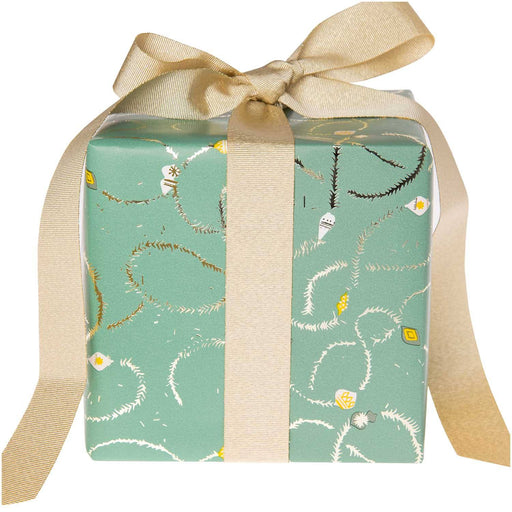 Gift Wrap - Nostalgic Christmas - Mint Garlands - The Village Haberdashery