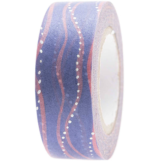 Washi Tape - Waves in Blue and Pink - The Village Haberdashery