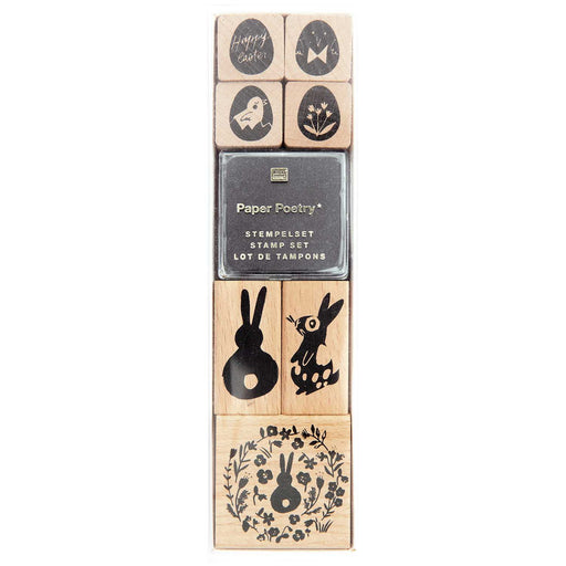 Stamp and Ink Set - Bunnies & Eggs - The Village Haberdashery