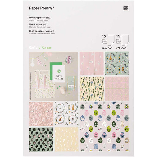 Easter Paper Pad -30 Sheets A4 - The Village Haberdashery