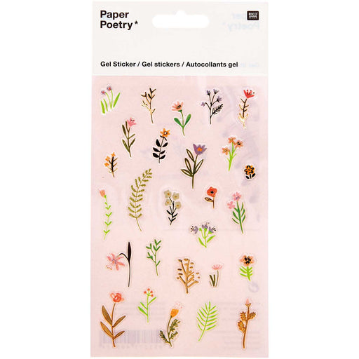 Scattered Flowers Gel Sticker Set - The Village Haberdashery