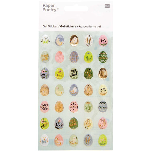 Easter Egg Gel Sticker Set - The Village Haberdashery