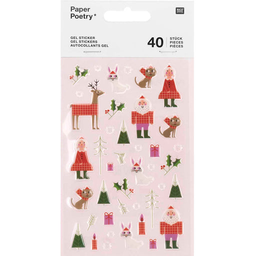 Christmas is in the Air Gel Sticker Set - The Village Haberdashery