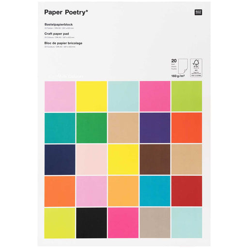 Super Rainbow 160gsm Paper Pad - 20 Sheets A3 - The Village Haberdashery