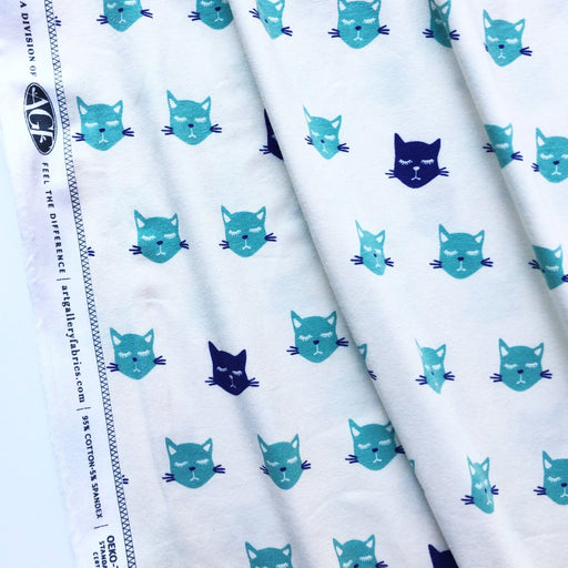 Fabric - Cat Nap Knit In Blue By Jessica Swift