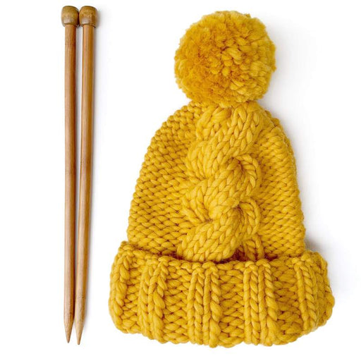 Mustard Big Alps Beanie Knit Kit by Stitch & Story - The Village Haberdashery