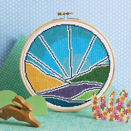 'Blue Sky' Cross Stitch Kit by Hawthorn Handmade - The Village Haberdashery