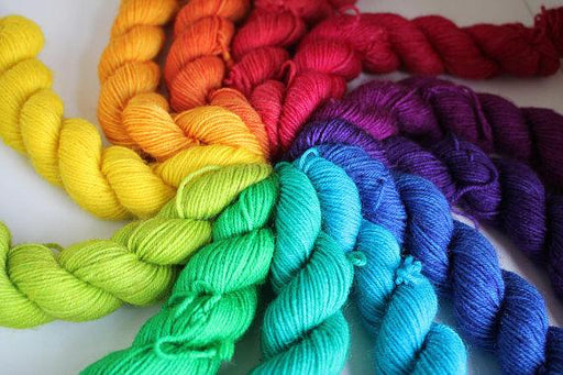 RiverKnits BFL 4-Ply Mini Skein Set - Rainbow - The Village Haberdashery