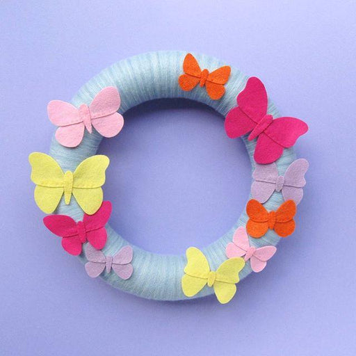Felt Butterfly Wreath - The Village Haberdashery