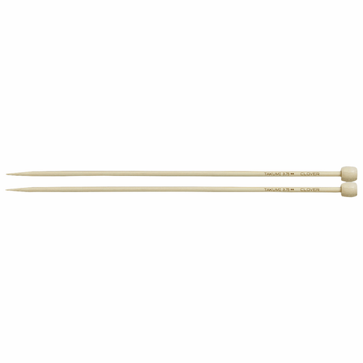 Clover Bamboo Knitting Needles - 23cm x 3.75mm - The Village Haberdashery