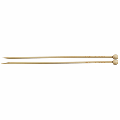 Clover Bamboo Knitting Needles - 23cm x 4mm - The Village Haberdashery