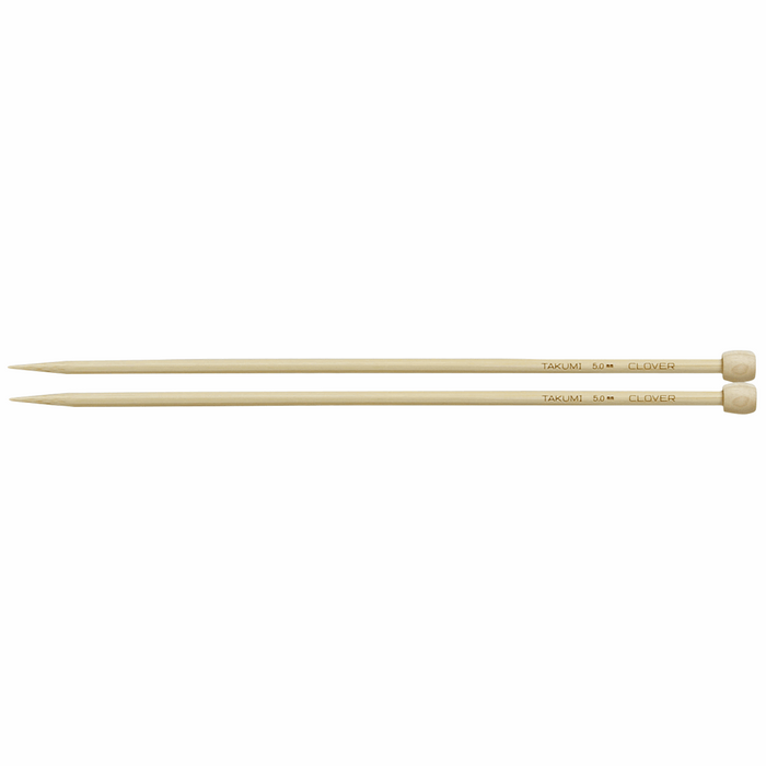 Clover Bamboo Knitting Needles - 23cm x 5mm - The Village Haberdashery