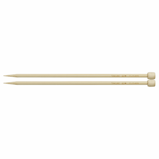 Clover Bamboo Knitting Needles - 23cm x 6mm - The Village Haberdashery